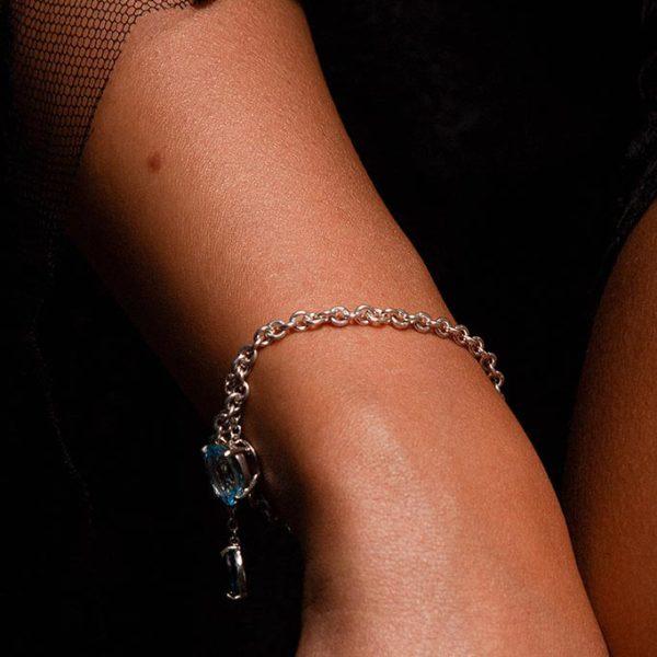 ZYDRUNE Celestial 'Iris' Topaz bracelet lookbook2.
