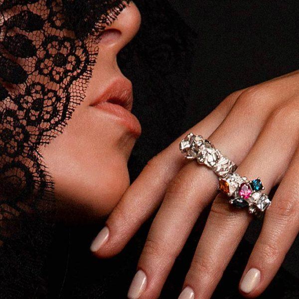 ZYDRUNE Celestial 'Polaris' Diamond ring lookbook.