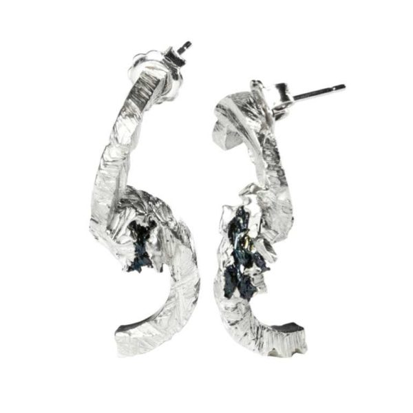 Zydrune Anomaly jewellery, 'Avalanche' earrings without chains.