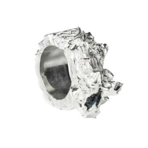 Zydrune Anomaly jewellery, 'Black Ice' big Silver ring.