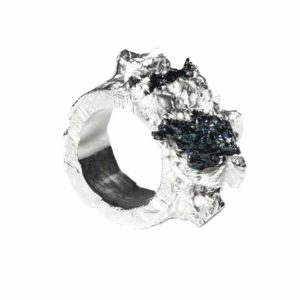 Zydrune Anomaly jewellery, 'Blizzard' statement Silver ring.