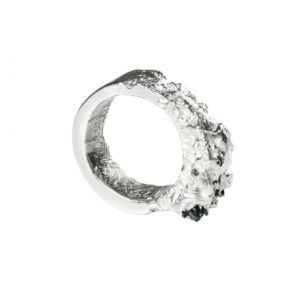 Zydrune Anomaly jewellery, 'Breakup Jam' Silver ring.