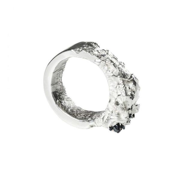 Zydrune Anomaly jewellery, 'Breakup Jam' Silver ring.
