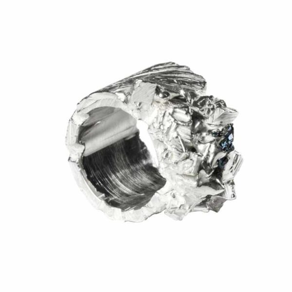 Zydrune Anomaly jewellery, 'Firn' large Silver ring.