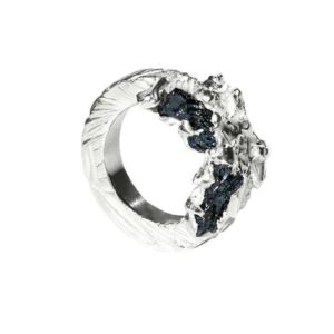 Zydrune Anomaly jewellery, 'Glaze Ice' woman's Silver ring.
