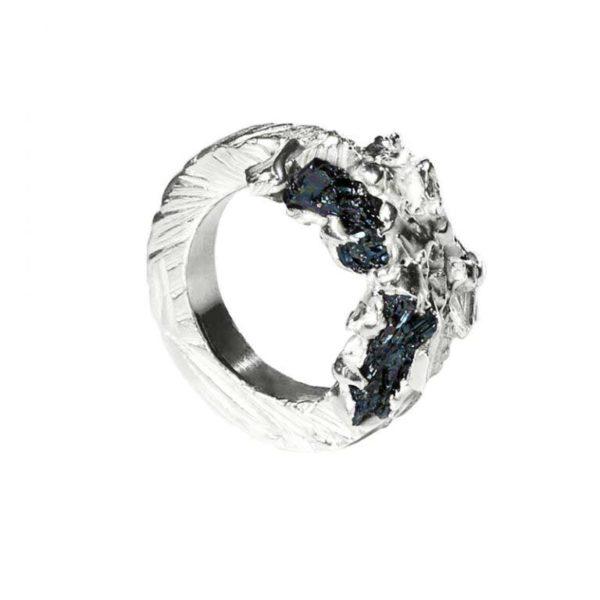 Zydrune Anomaly jewellery, 'Glaze Ice' woman's Silver ring.