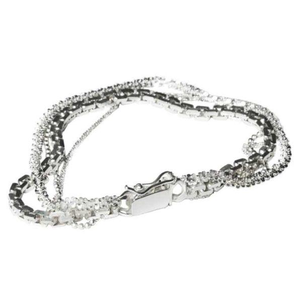 Zydrune Anomaly jewellery, 'Vein Ice' chain bracelet.