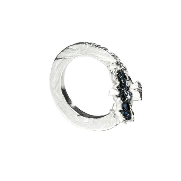 Zydrune Anomaly jewellery, 'Verglas' delicate Silver ring.