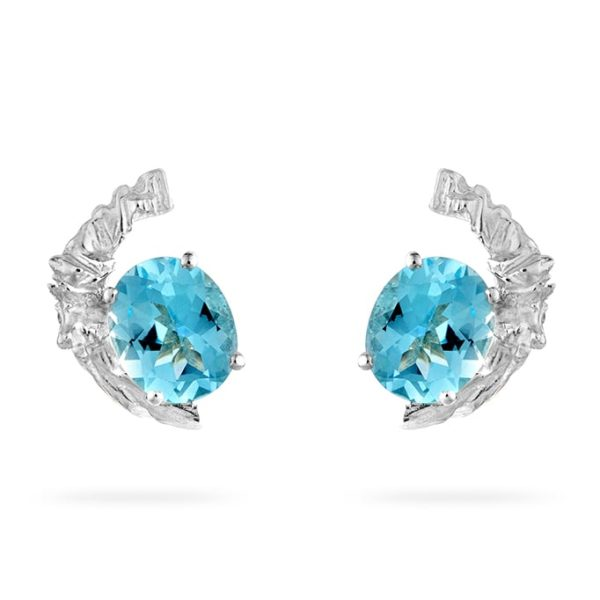 Zydrune Celestial 'Fox Fur' blue Topaz earrings.