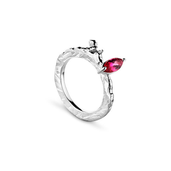 Zydrune Celestial 'Supernova 1006' pink ring side view.
