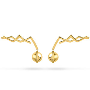 Zydrune jewellery medieval collection gold vermeil earrings image.