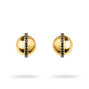 Zydrune jewellery medieval collection diamond and gold vermeil stud earrings image.