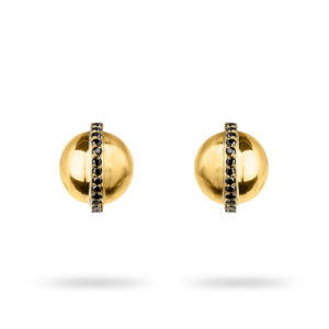 Zydrune jewellery medieval collection diamond and gold stud earrings image.