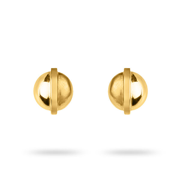 Zydrune jewellery medieval collection gold vermeil stud earrings image.