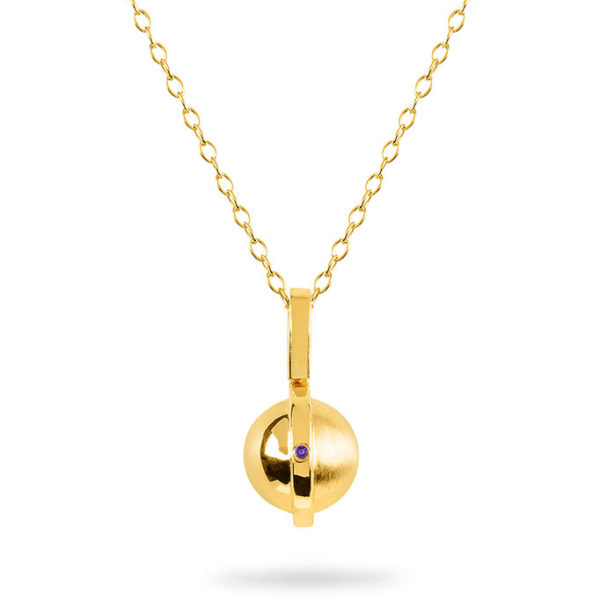 February Birthstone pendant with Amethyst by ZYDRUNE.