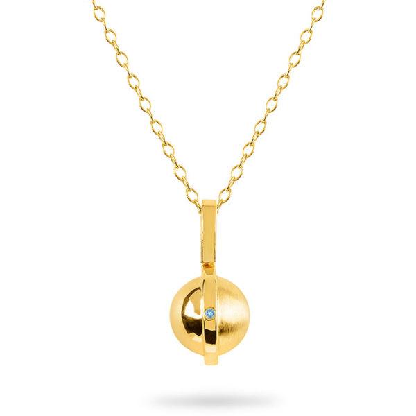 March Birthstone pendant with Aquamarine by ZYDRUNE.