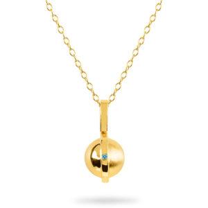 November Birthstone pendant with Topaz by ZYDRUNE.