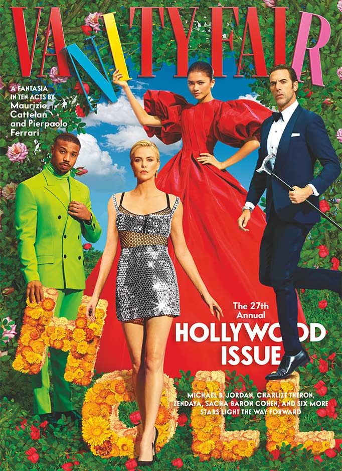 ZYDRUNE Jewellery featured in Vanity Fair Magazine. Front Cover of the Hollywood Issue. March 2021.